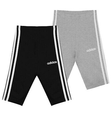 Girls Adidas Breathable Casual Stripe Essential 3S Shorts Sizes from 7 to 13