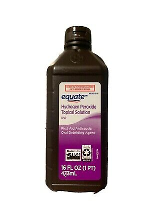 Equate Hydrogen Peroxide Solution 16oz  (1Pt) First Aid