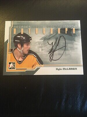 2013-14 ITG Decades 1990's Auto Kyle McLaren Boston Bruins!