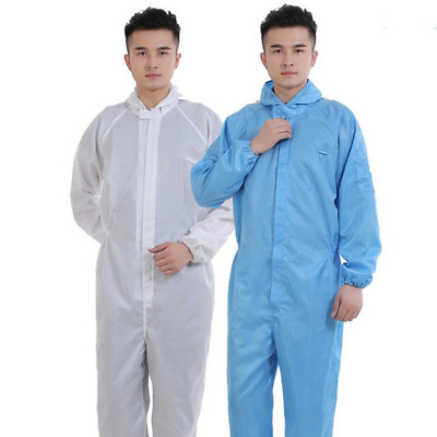 White Coverall Dustproof Isolation Suit Disposable Protective Zipper Clothing K