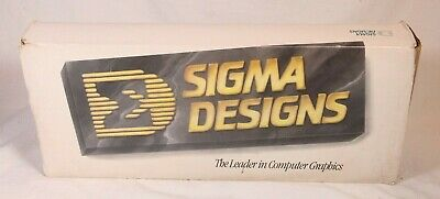 Rare Sigma Designs Pageview Monitor Video Board 16-bit ISA PC Complete in Box