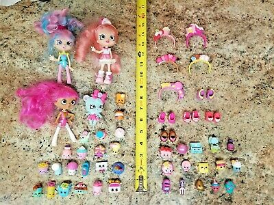 Huge Lot SHOPPIES Shopkins dolls EXTRA ACCESSORIES Shoes Headbands Some RARE!