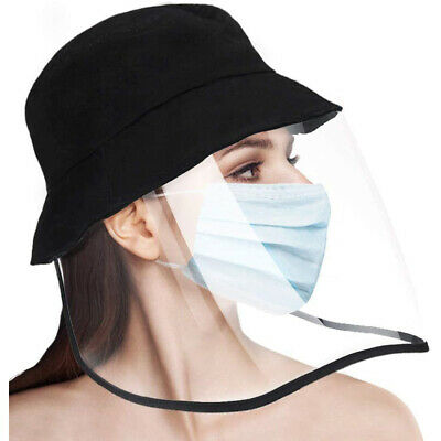 Bucket Sun Hat Safety Full Face Shield Protective Cap Removable Shield Dustproof