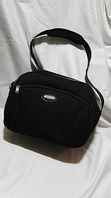 Protocol Brand Luggage Travel Carry All Messenger Style Bag Black Padded Strap