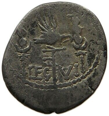 ROME  MARCUS ANTONIUS Legionary Denarius GALLEY / EAGLE  #mi 019