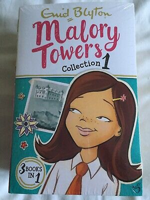 2 New Sealed Enid Blyton Malory Towers  Children's 3 In 1 Books Collection 1 & 2