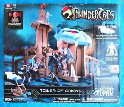 THUNDERCATS, TOWER OF OMENS. Includes Vehicle & Figure! BRAND NEW OLD STOCK!