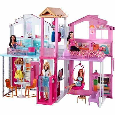 VERY RARE BARBIE 3-STORY TOWNHOUSE: 3 FLOORS, 5 ROOMS, 3x2 FEET! BRAND NEW!