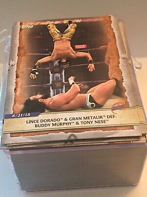 2020 Topps WWE: Road to Wrestlemania COMPLETE Base Set (Cards 1-100)