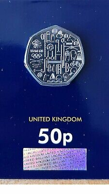 NEW 2020 Olympic 50p pence coin UK Royal Mint Brilliant Uncirculated condition