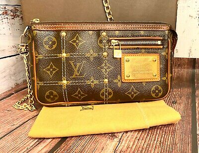 Louis Vuitton Pochette Accessories Riveting Crossbody Authentic Rare