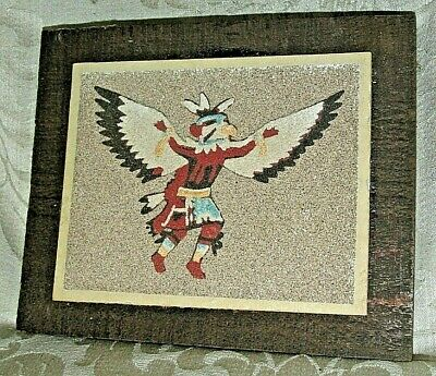 """Vintage American Indian SAND & EARTH """" The EAGLE Medicine Man """"  PICTURE"""