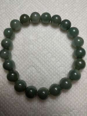 Grade A 100% Natural Genuine Burmese Jadeite Jade Beaded Stretchy Bracelet A#93