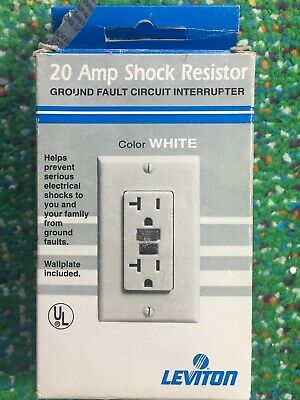 Leviton 632-6899-W 20 Amp Shock Resistor Ground Fault Circuit Interrupter White