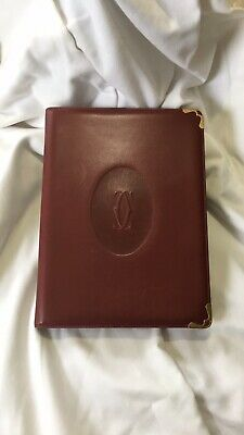 Vintage Cartier Paris Four Piece Leather Day Planner Suite