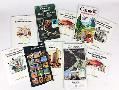 Lot of 10 Vintage Ontario Canada Maps & Pamphlets Northwest Territories