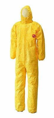 Tychem C Model CHA5 Hooded Coverall Yellow, Size M, (Qty 5)