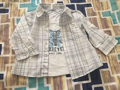 Baby Shirt Tshirt Attached 6-12 Months Excellent Condition