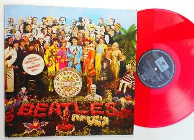 the Beatles  sgt.pepper's lonely hearts club band   red vinyl  PCSO 7027