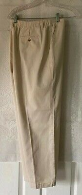 Talbots Womens Size 14 Beige  Dress Pants Cotton Polyester