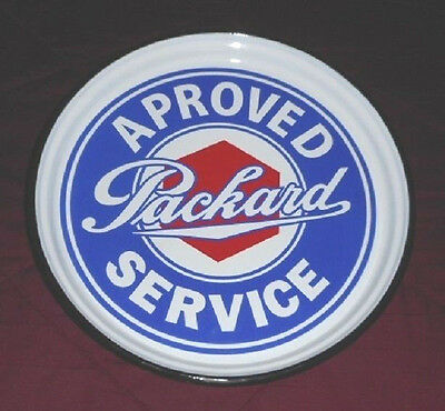 Packard Approved Service Sign-Tray Porcelain Gas & Oil MOVING SALE MAKE OFFER