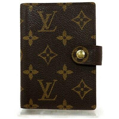 Louis Vuitton Diary Cover Palm PDA Holder M63028 Browns Monogram 1205995