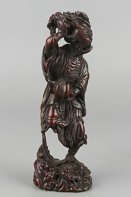 Chinese Exquisite Hand carved Luohan Carving Sandalwood statue