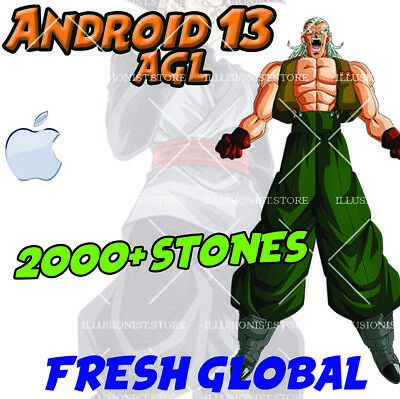 🌟iOS - RANK 1 - Android 13 2000+ Dragon Stones FOR Dokkan Fresh Global Battle