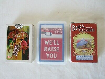 Boags Ales & Stout Playing Cards + Virgin Airline & Malaysian Airlines Unopened