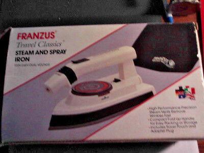 Travel Smart Franzus Travel Lite Fold Up Iron W/Steam And Spray Wrinkles Away