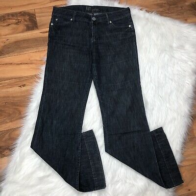 Kut From The Kloth Womens Natalie Boot Cut Flare Big Stitch Curvy Jeans Size 10