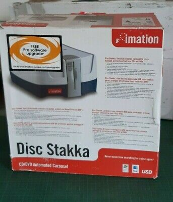 Vintage CD or DVD STAKKA, Imation, incl cord, instructions, CD installation