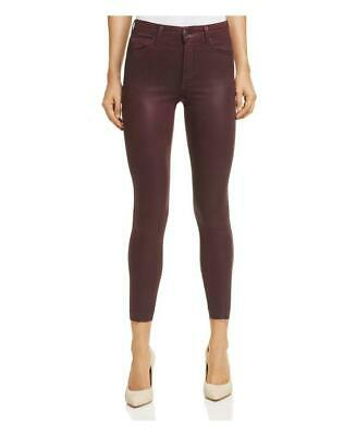 Joes Jeans The Charlie Coated High Waist Ankle Skinny Jeans Merlot *NEW* $198