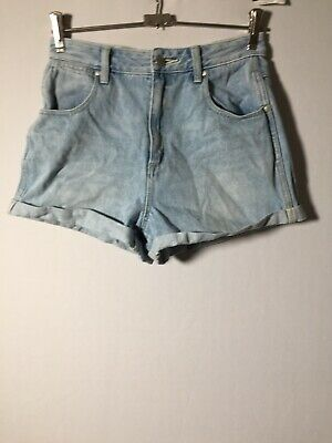 Wrangler Womens Blue Denim Liv Shorts Size 8 W26 Inch Cotton