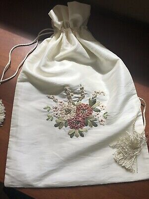 Lingerie Embroidered Bag Pouch Storage