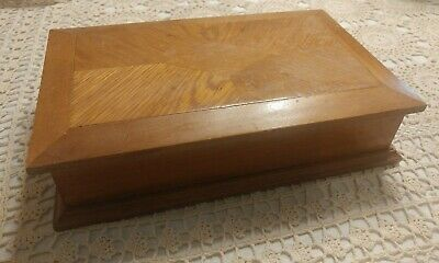 Vtg Linden Wooden Inlay Jewelry Box Taiwan