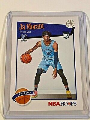 2019-20 Panini NBA Hoops Tribute Ja Morant RC #297 Rookie Card Memphis Grizzlies