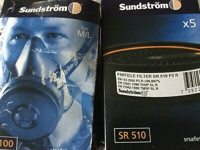 Sundstrom half face mast and filters
