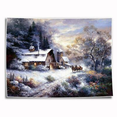 """8""""x10"""" Beautiful farm Painting HD photo on Canvas Home Decor Art Picture posters"""