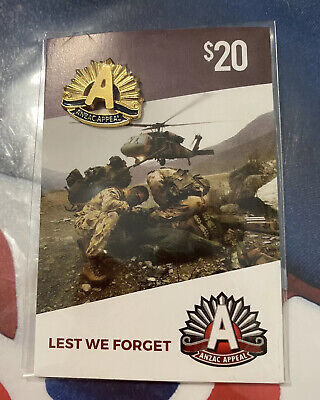 anzac day badges ~ Gold Rising Sun ~ New & Sealed
