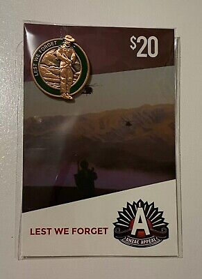 Anzac Badges ~ Resting On Arms ~ New & Sealed