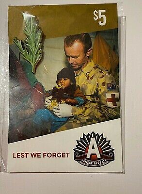 Anzac Day Badges ~ Rosemary ~ New & Sealed