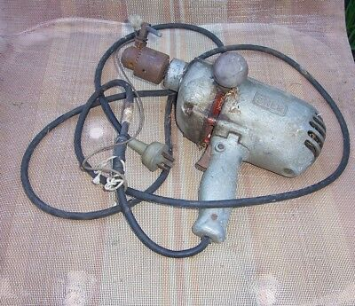 old electric drill, SHER brand, metal case, fair condition