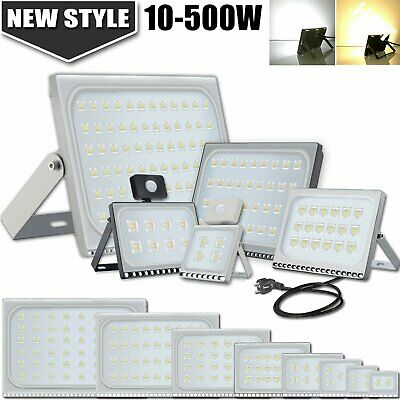 10/20/30/50/100W LED Floodlight PIR Sensor Motion Security Flood Light Cool Warm