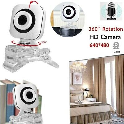 USB 2.0 HD Webcam Desk Click-on Web Cam Camera For Computer PC Laptop Desktop AU