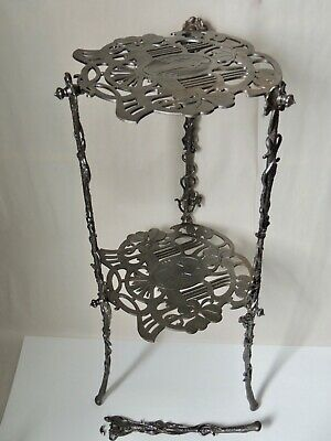 MAGDESPRUNGER 1890s ROCOCO HIGHLY DETAILED CAST IRON PLANT STAND PARTS OR REPAIR