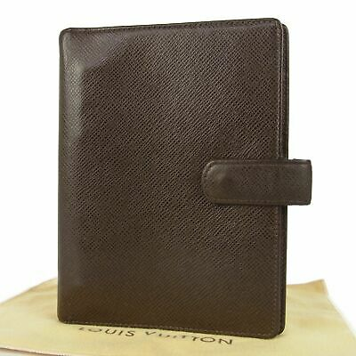 Sale! Auth LOUIS VUITTON Taiga Agenda MM Notebook Day Planner Cover 11298bkac