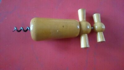 Vintage Wooden Corkscrew Good Condition