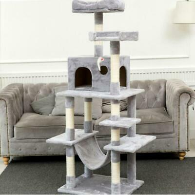 Multi-Level Cat Tree With Sisal-Covered Scratcher Slope Scratching Posts Plush P