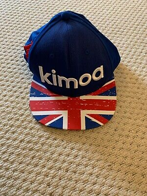 Brand New With Tags F1 Kimoa Mclaren Snapback Cap OSFA F Alonso Blue/Red